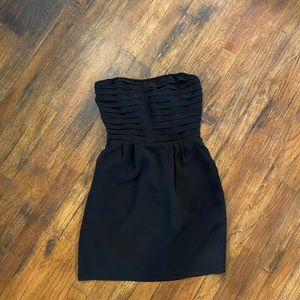 Anthropologie Black Strapless Dress w/Pockets